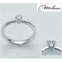 Miluna abbraccio della corona lid2013-d10 gioiello donna anello oro diamanti