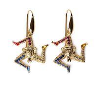 Isola bella orecchini lapilli 20000157 orecchini lapilli trinacria gioiello donna orecchini argento