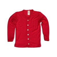 Engel cardigan in lana mista seta col. Rosso