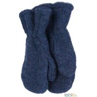 Popolini muffole bambino in pile di lana - col. Blu