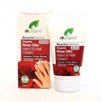 Dr. Organic crema mani e unghie hand & nail cream organic rose otto 125 ml