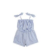 MILLY MINIS tuta in cotone chambray a righe