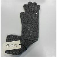 Italmaglia guanto pura lana 100% con lurex e paillettes