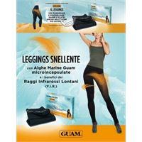 LACOTE-GUAM guam leggings snellente con alghe marine microincapsulate taglie: l-xl: 46-50, colore: nero
