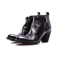 OFFICINE CREATIVE scarpe donna stivali nero doppia zip OFFICINE CREATIVE