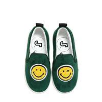 JOSHUA SANDERS sneakers slip on smile in velluto e pelle