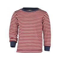 Engel maglietta a manica lunga in lana merino -col. Rosso/ ecrù