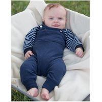 Reiff salopette baby in spugna di lana/seta -col. Blu