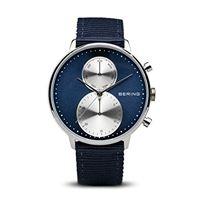 Bering orologio cronografo quarzo uomo con cinturino in tessuto 13242-507