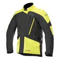 Alpinestars giacca moto touring Alpinestars volcano drystar nero giallo fluo