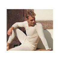 Engel maglietta uomo a manica lunga in lana seta - col. Ecrù
