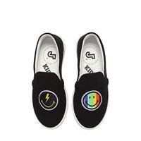 JOSHUA SANDERS sneakers slip-on rainbow smile in tela di cotone