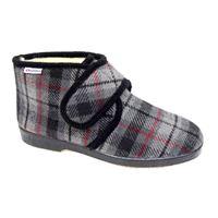 Superga pantofolone in lana con fodera in pelliccia di lana e strappo.