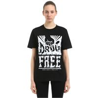 ANDREA CREWS t-shirt pablo cots drug free in jersey di cotone