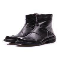 MANOVIA 52 scarpe donna stivali nero cuciture MANOVIA 52