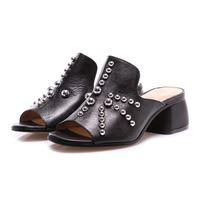 POESIE VENEZIANE scarpe donna sandali nero borchie POESIE VENEZIANE