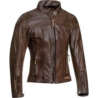 Ixon giacca moto donna pelle estiva Ixon crank air lady marrone