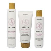 Kemon actyva colore brillante kit shampoo + mask + cream