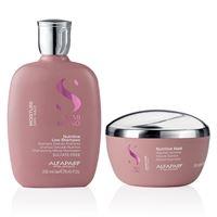 Alfaparf new semi di lino moisture kit shampoo + mask