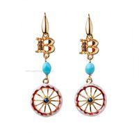 Isola bella orecchini 20000093 orecchini mini logo ruota gioiello donna orecchini argento