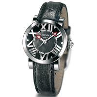 Locman toscano / orologio donna / quadrante madreperla nera / cassa acciaio / cinturino pelle nera