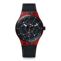 Swatch / sistem 51 / sistem red / orologio unisex / quadrante nero / cassa plastica / cinturino silicone