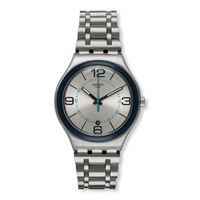 Swatch / irony / cycle me / orologio uomo / quadrante grigio / cassa acciaio / bracciale acciaio