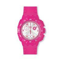Swatch / originals chrono / huyana / orologio donna / quadrante argentato / cassa plastica / cinturino silicone