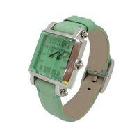 Locman prisma / orologio donna / quadrante verde / cassa acciaio / cinturino pelle verde