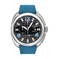 Locman mare / orologio uomo / quadrante nero / cassa titanio / cinturino cordura navy