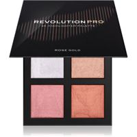 Revolution PRO 4k highlighter palette palette di illuminanti colore rose gold 4 x 4 g