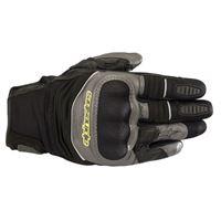 Alpinestars crosser air touring gloves black anthracite yellow fluo