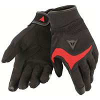 Dainese guanti desert poon d1 nero rosso