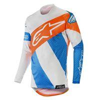 Alpinestars racer tech atomic jersey 2019 blu arancio fluo