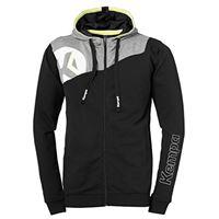 Kempa core 2. 0 giacca con cappuccio cappotto, unisex, core 2. 0 kapuzenjacke, schwarz/dark grau melange, m