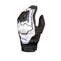Macna guanti moto in pelle estivi Macna assault nero blu