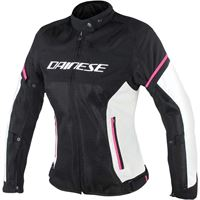 Dainese giacca air frame d1 tex lady nero bianco