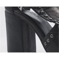 MEZZETINTE sandali alti donna nero