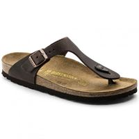 Birkenstock gizeh leather habana sandalo - calzata normale