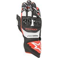 Alpinestars guanti moto pelle racing Alpinestars gp pro r3 nero bianco rosso