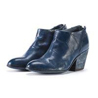 OFFICINE CREATIVE scarpe donna stivali tronchetto tacco texano blu oltremare OFFICINE CREATIVE