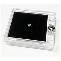 Notini diamante naturale sigillato in blister con prestigiosa confezione in pelle - ct. 0. 20 f si brillante