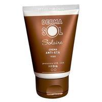 Dermasol linea protezione solare crema viso anti-età protezione media 50 ml