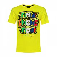 VR46 t-shirt VR46 stripes the doctor giallo