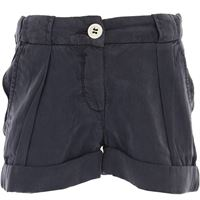 Siviglia pantaloncini shorts bambina in outlet, blue, tencel, 2021, 2y 4y 5y 6y 7y