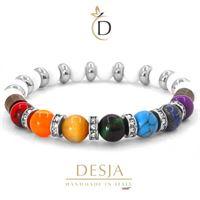 Bracciale 7 chakra con sette pietre naturali | diamond