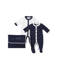 EMPORIO ARMANI set di 2 tutine in jersey di cotone