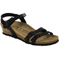 Birkenstock lana pull up leather black sandalo donna