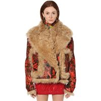 DSQUARED2 giacca in shearling tie dye
