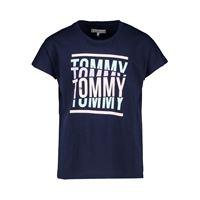 TOMMY HILFIGER t-shirt tommy cut oversized bambina